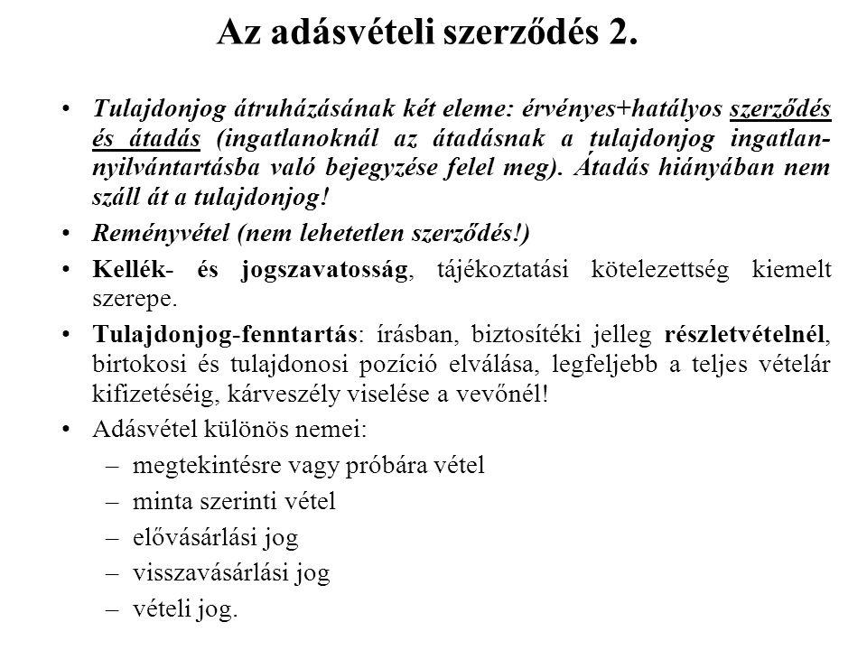 Az adásvételi szerződés 2.