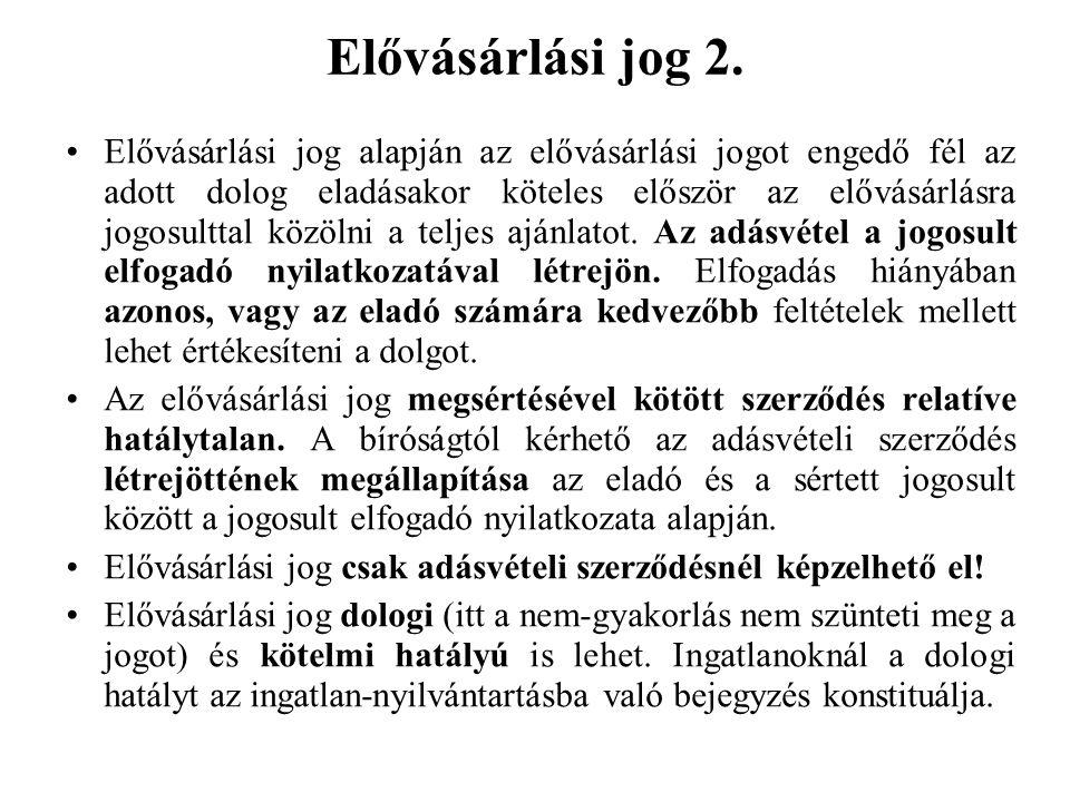 Elővásárlási jog 2.