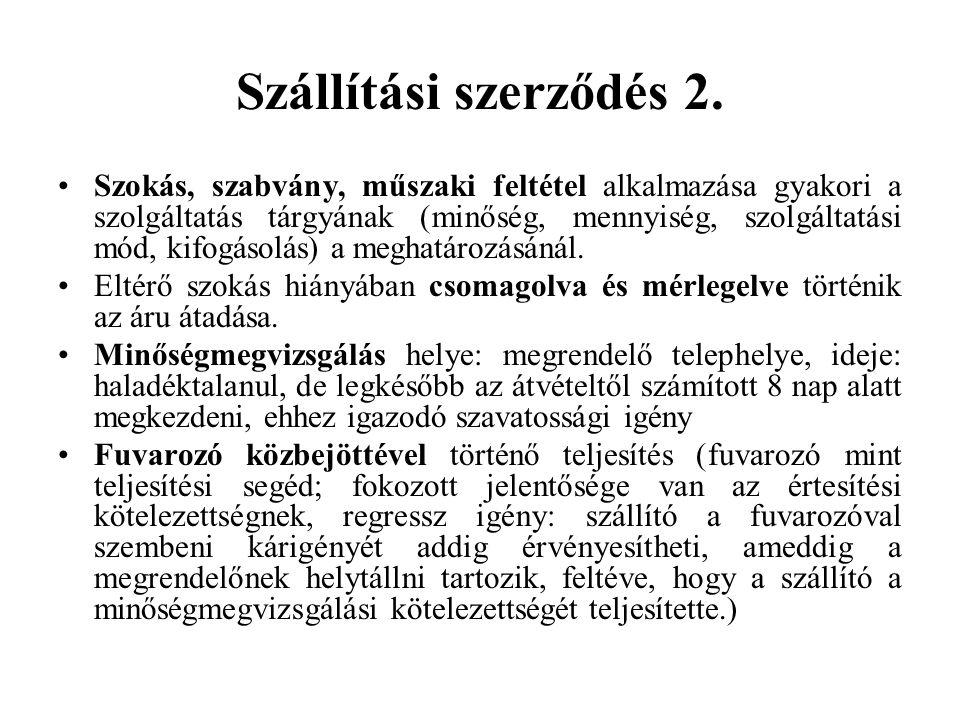 Szállítási szerződés 2.