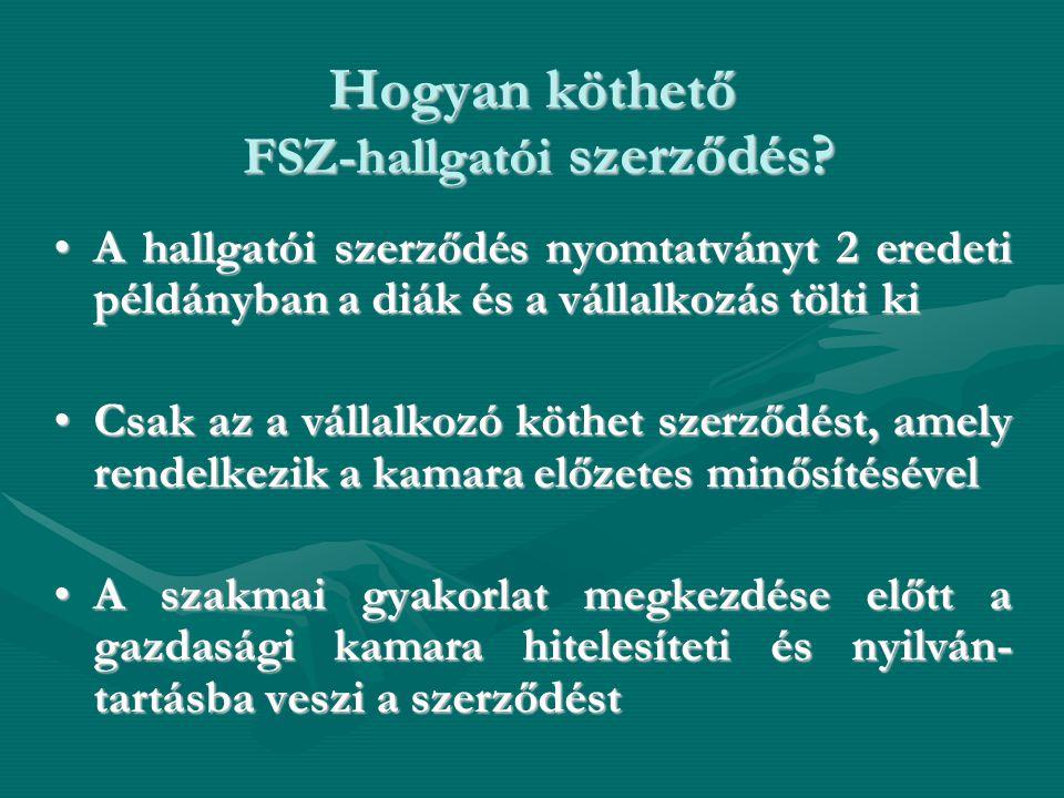 Hogyan köthető FSZ-hallgatói szerződés