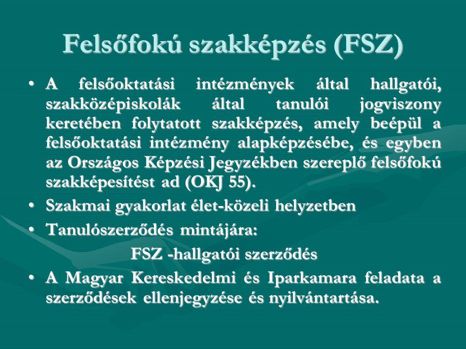 Felsőfokú szakképzés (FSZ)