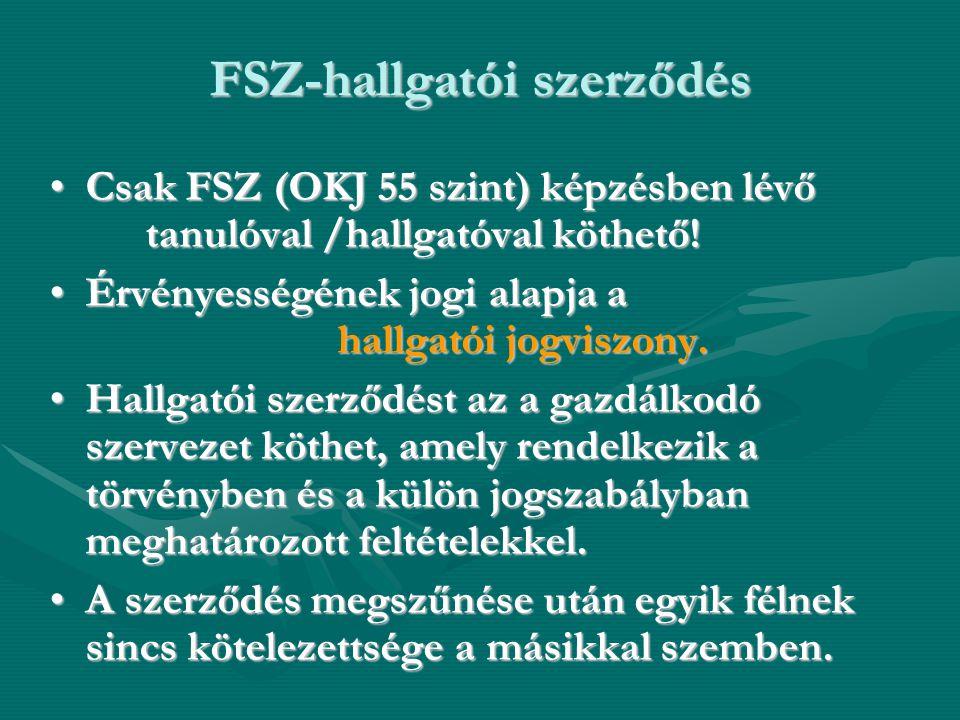 FSZ-hallgatói szerződés