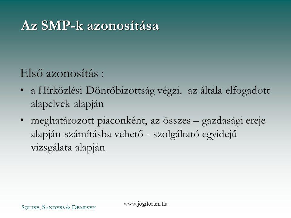 Az SMP-k azonosítása Első azonosítás :
