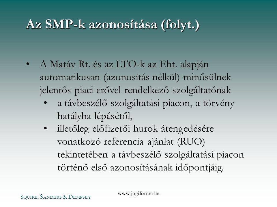 Az SMP-k azonosítása (folyt.)