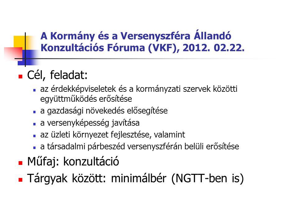Tárgyak között: minimálbér (NGTT-ben is)