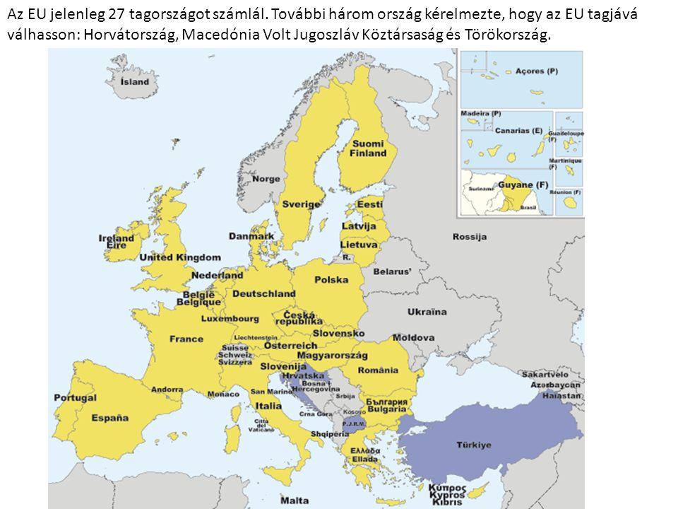 Az EU jelenleg 27 tagországot számlál
