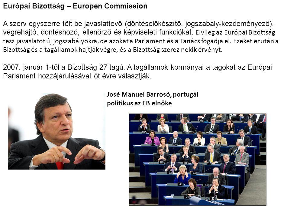 Európai Bizottság – Europen Commission
