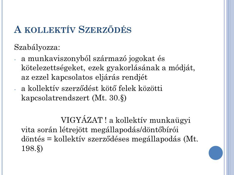 A kollektív Szerződés Szabályozza: