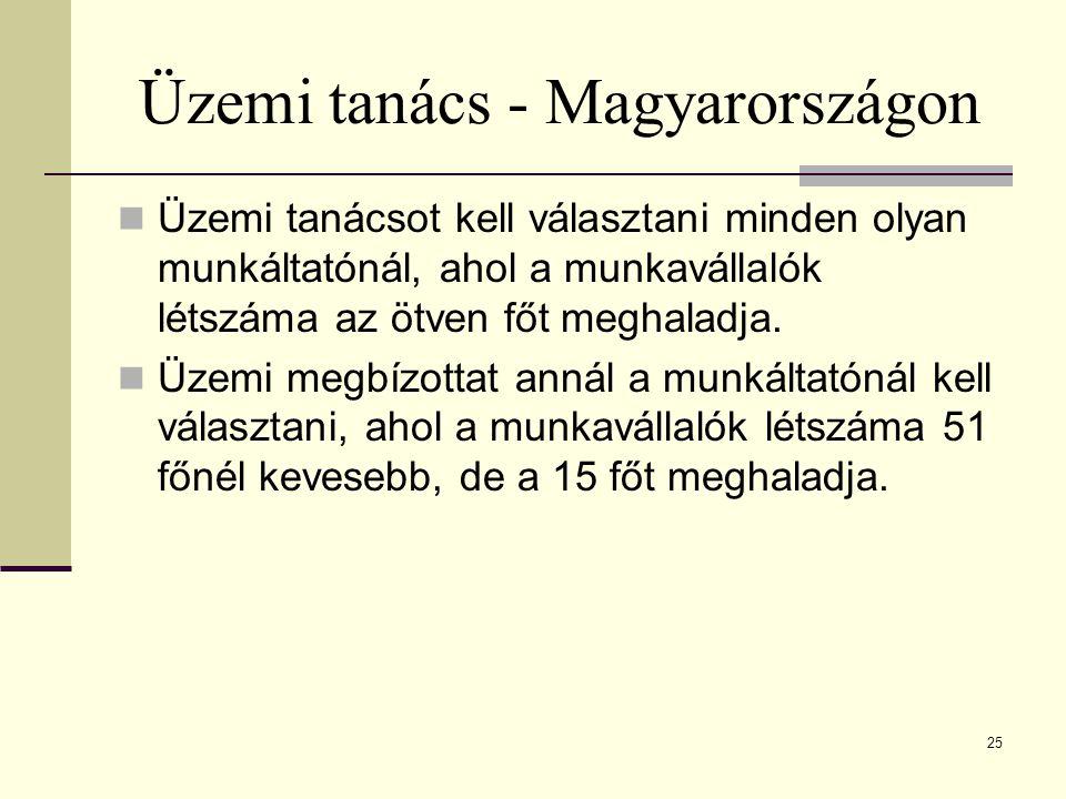 Üzemi tanács - Magyarországon