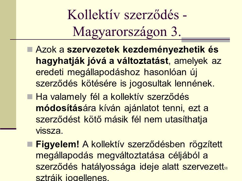 Kollektív szerződés - Magyarországon 3.