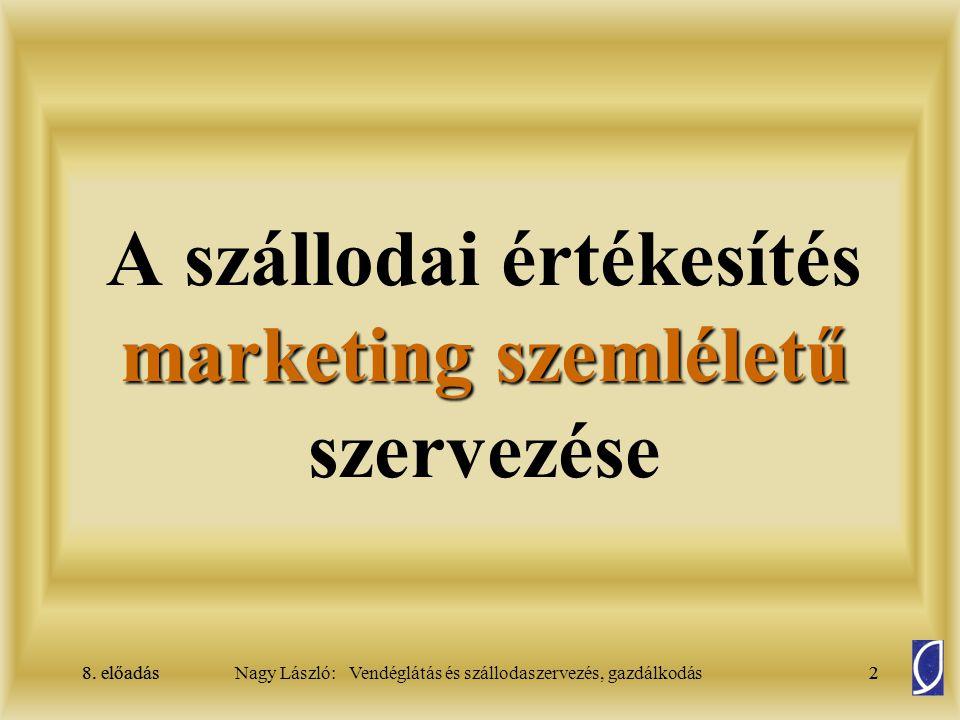 A szállodai értékesítés marketing szemléletű szervezése