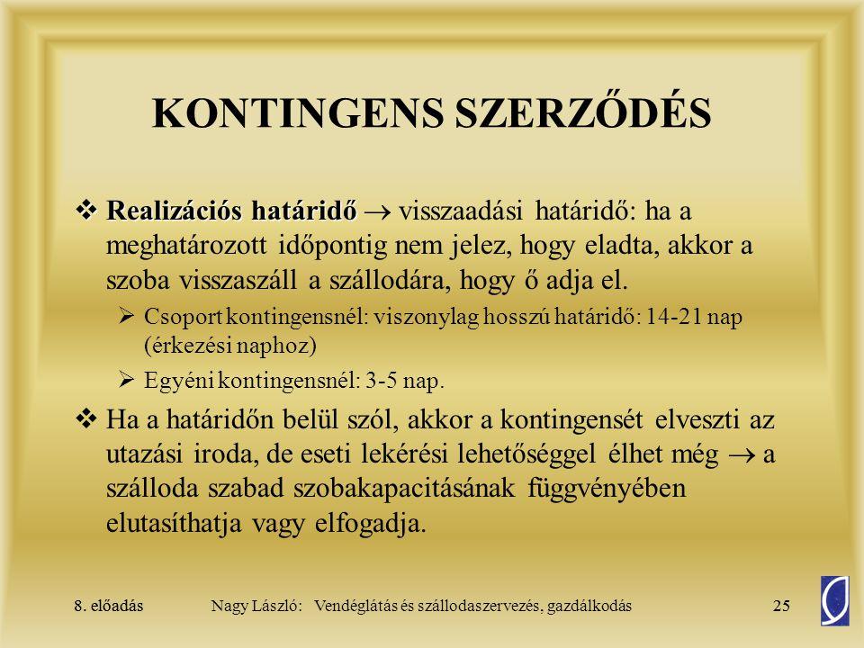 KONTINGENS SZERZŐDÉS