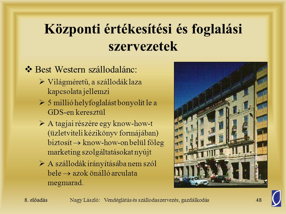 Központi értékesítési és foglalási szervezetek