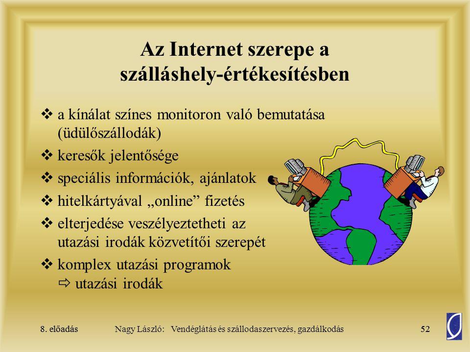Az Internet szerepe a szálláshely-értékesítésben