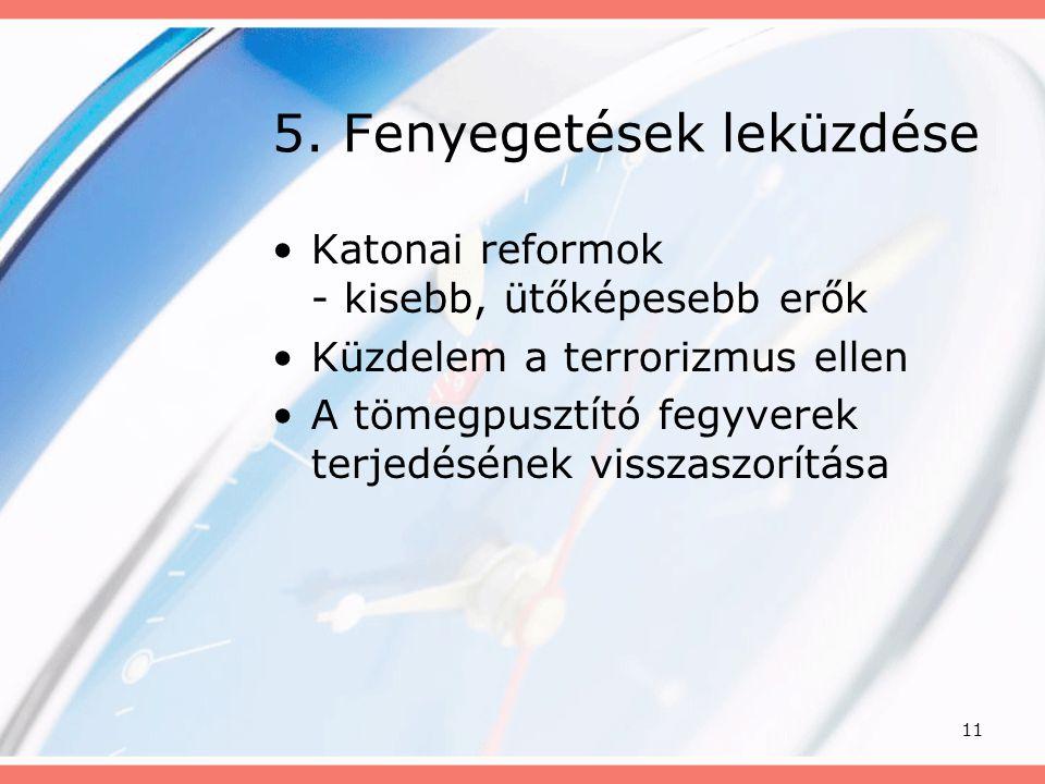 5. Fenyegetések leküzdése