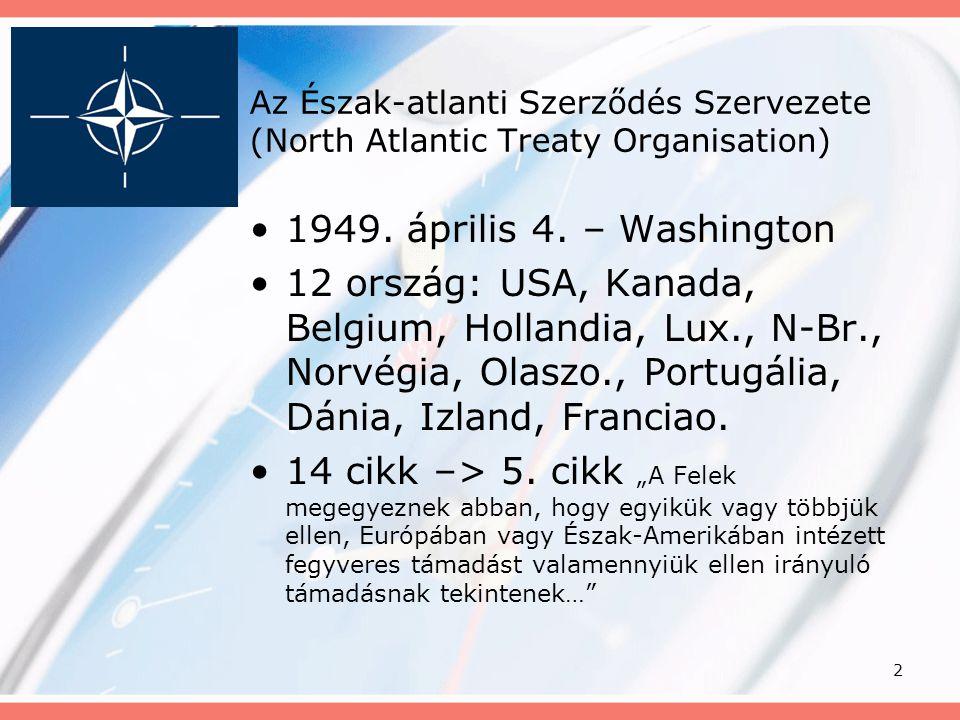 Az Észak-atlanti Szerződés Szervezete (North Atlantic Treaty Organisation)