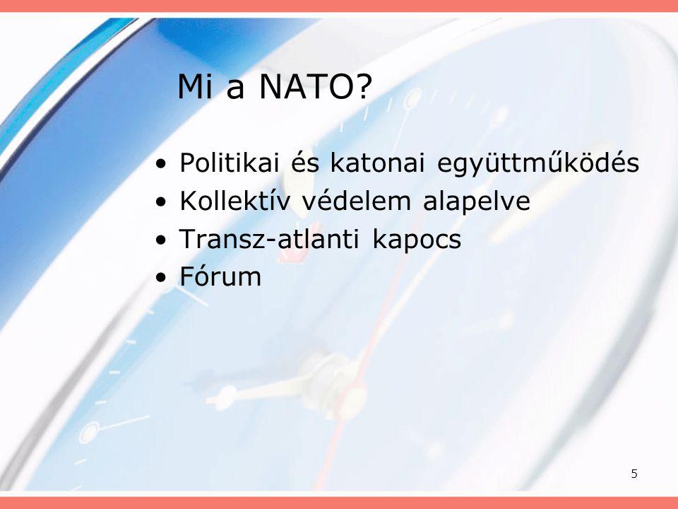 Mi a NATO Politikai és katonai együttműködés