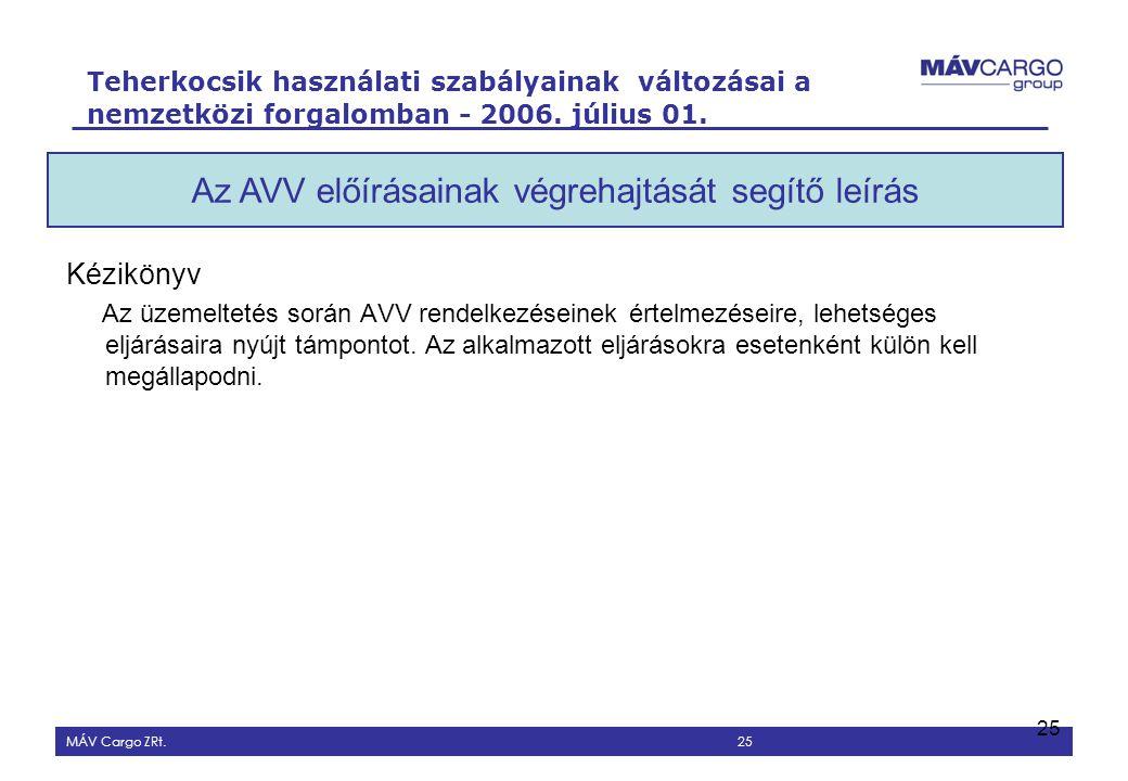 Az AVV értelmezését segítő eljárási leírás