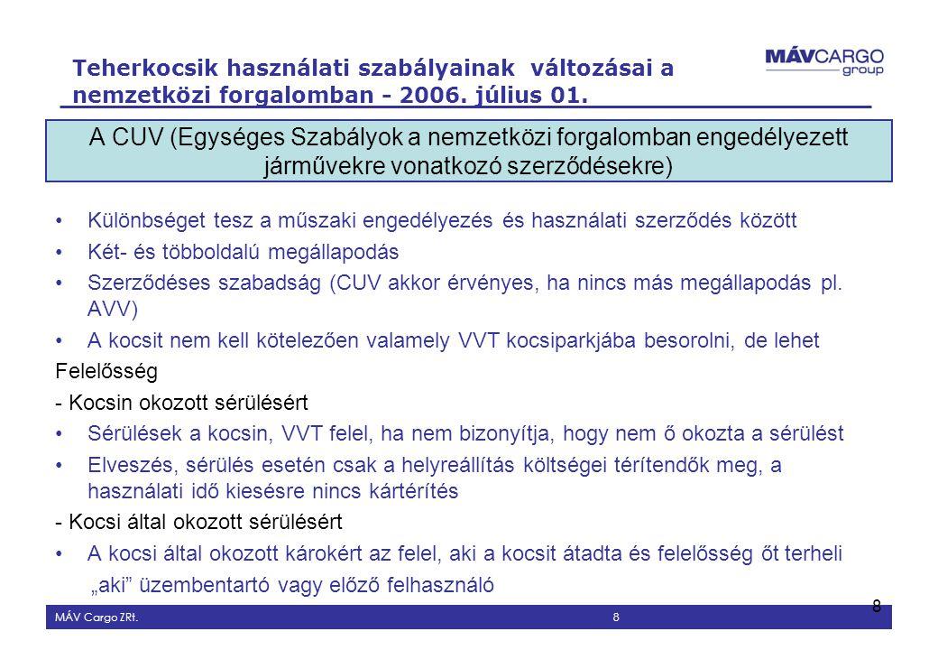 A CUV (Egységes Szabályok a nemzetközi forgalomban engedélyezett járművekre vonatkozó szerződésekre)