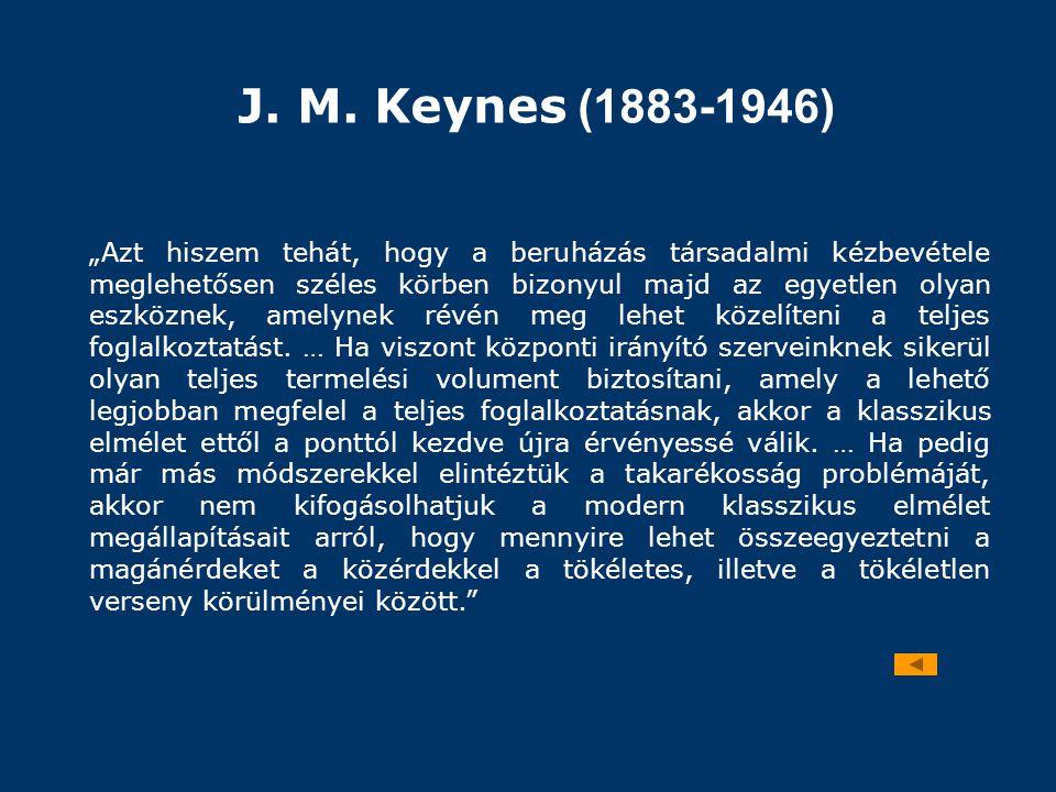 J. M. Keynes (1883-1946)