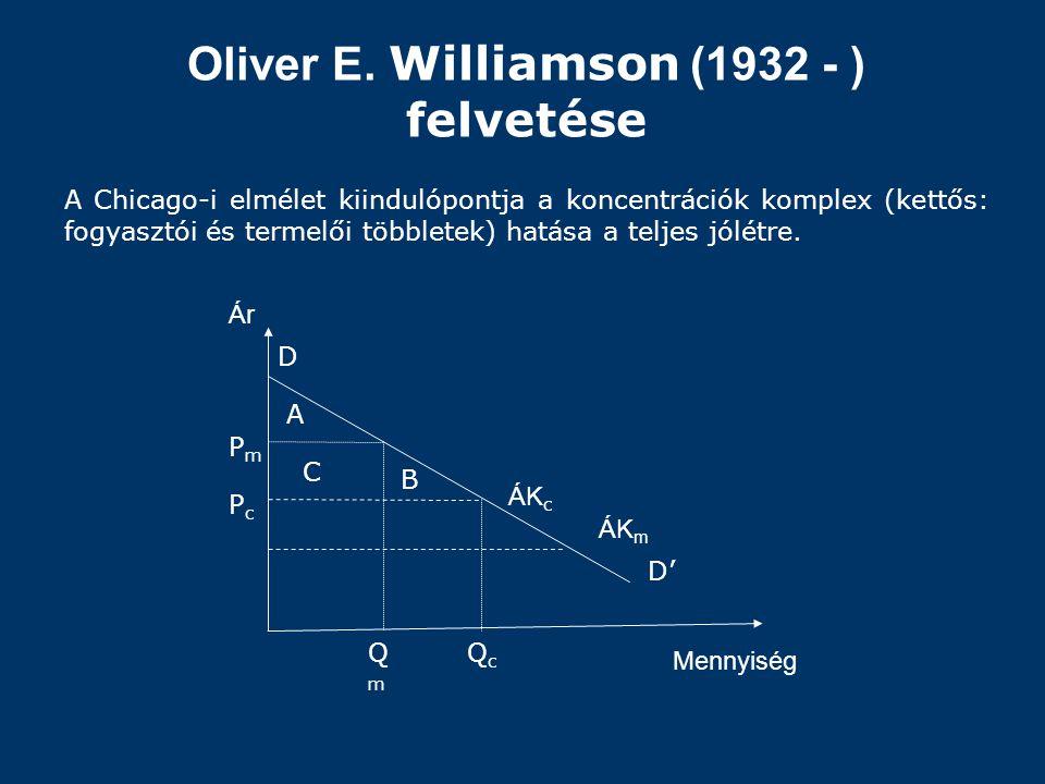Oliver E. Williamson (1932 - ) felvetése