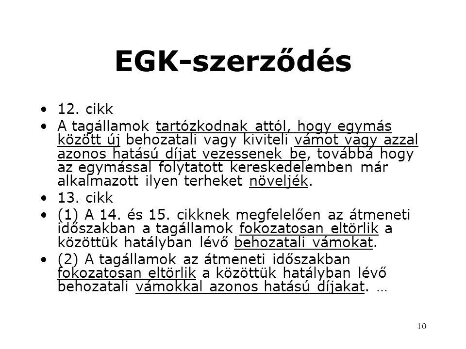EGK-szerződés 12. cikk.