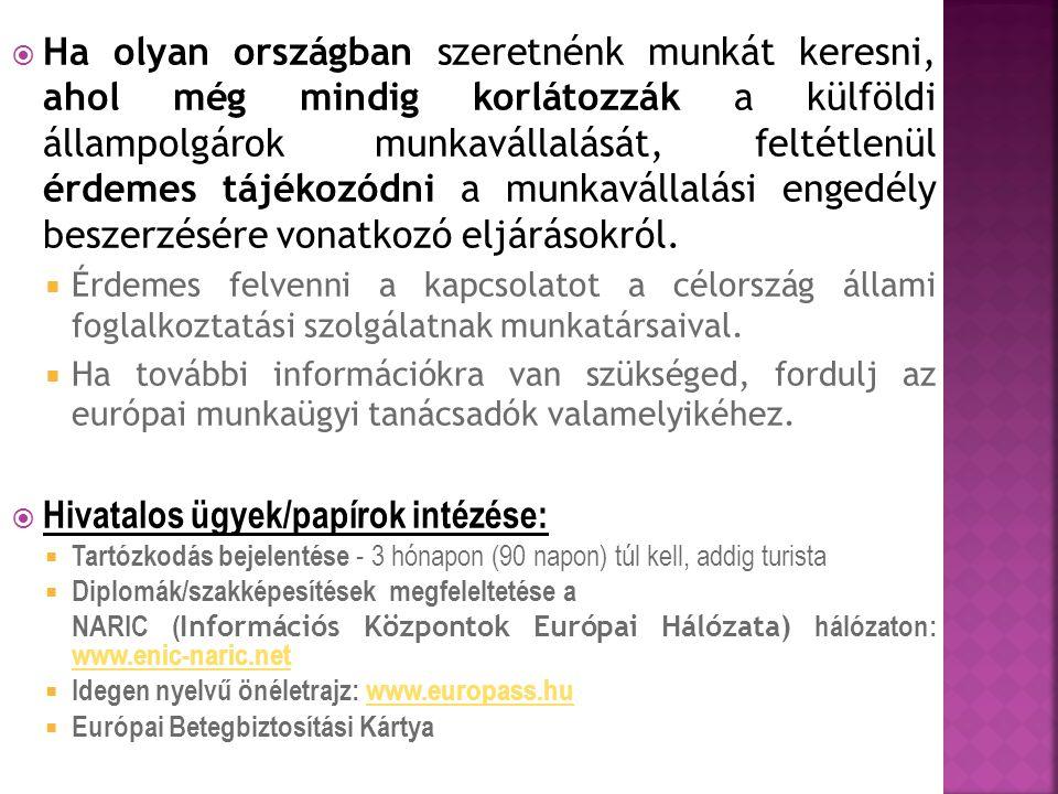 Hivatalos ügyek/papírok intézése: