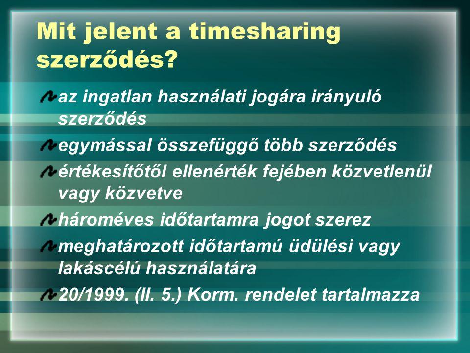 Mit jelent a timesharing szerződés