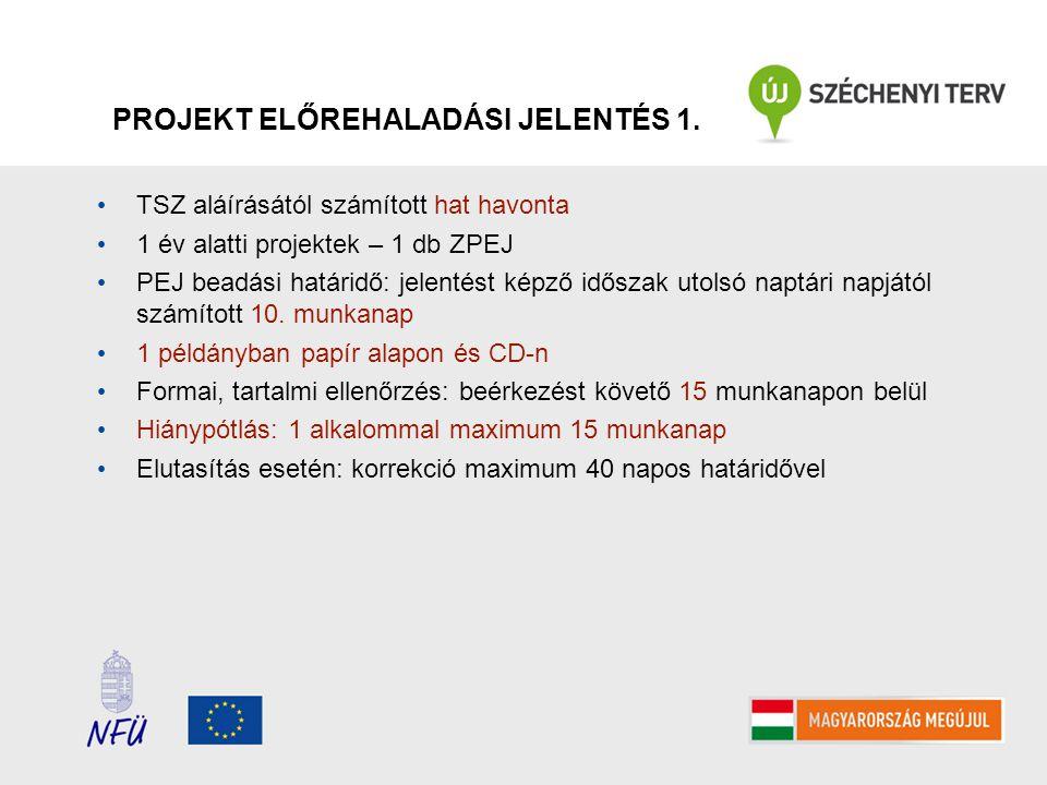 PROJEKT ELŐREHALADÁSI JELENTÉS 1.