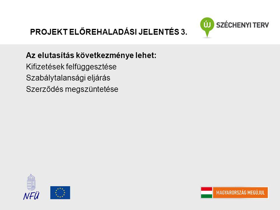 PROJEKT ELŐREHALADÁSI JELENTÉS 3.
