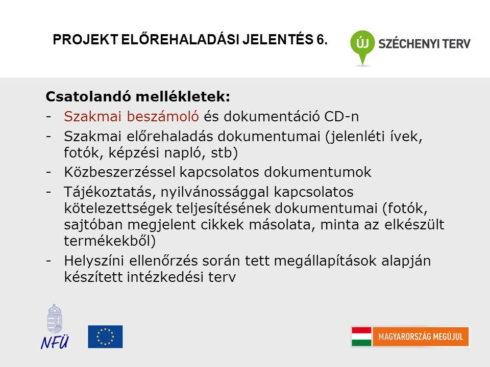 PROJEKT ELŐREHALADÁSI JELENTÉS 6.