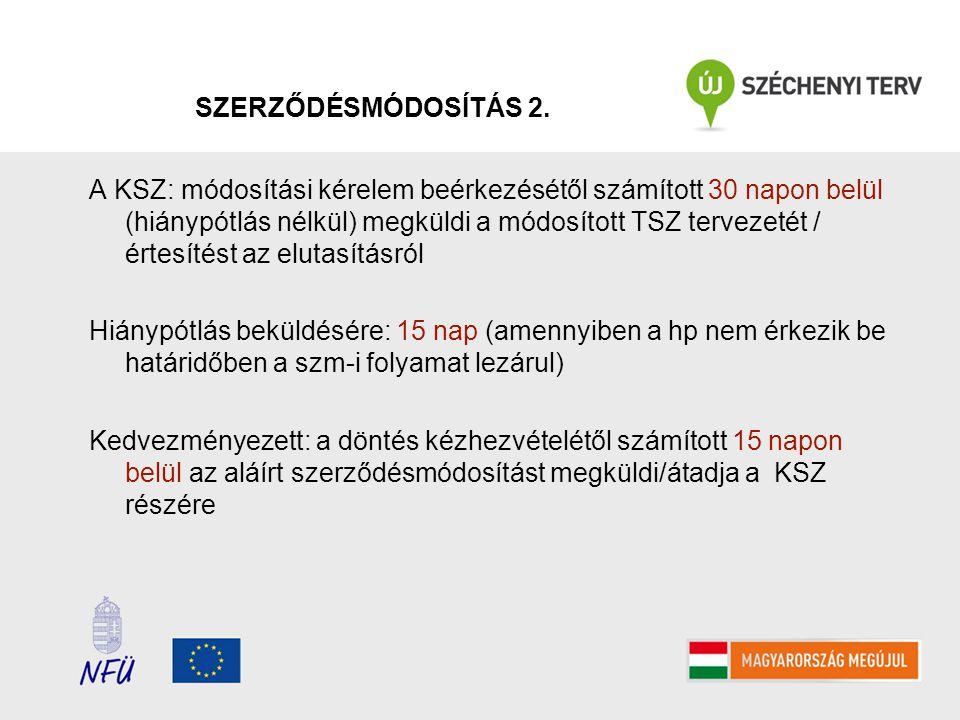 SZERZŐDÉSMÓDOSÍTÁS 2.