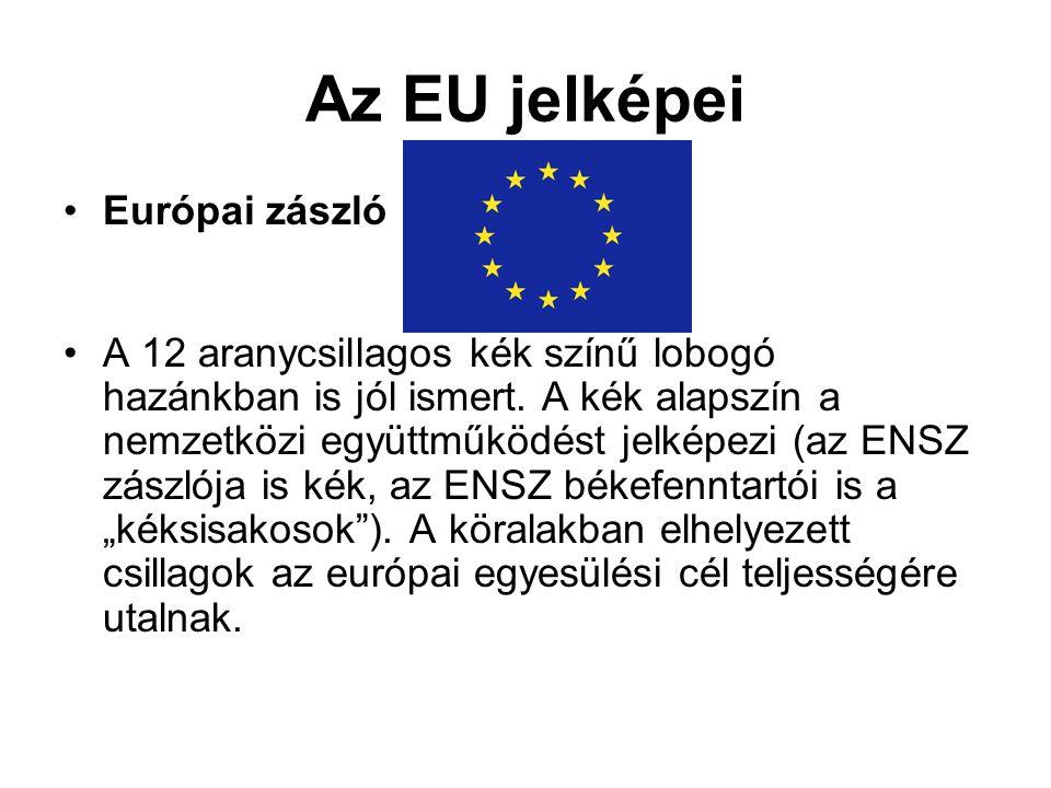 Az EU jelképei Európai zászló