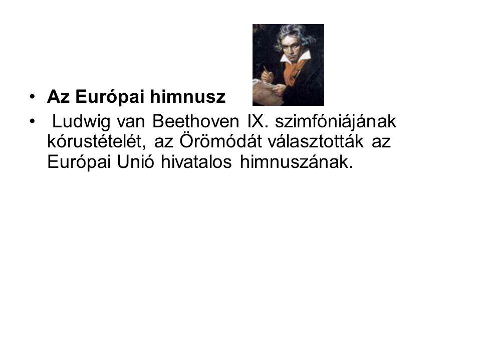 Az Európai himnusz Ludwig van Beethoven IX.