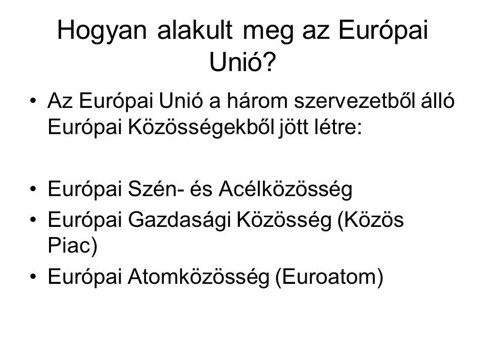 Hogyan alakult meg az Európai Unió