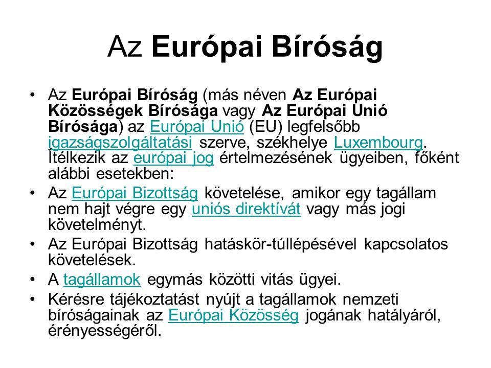 Az Európai Bíróság