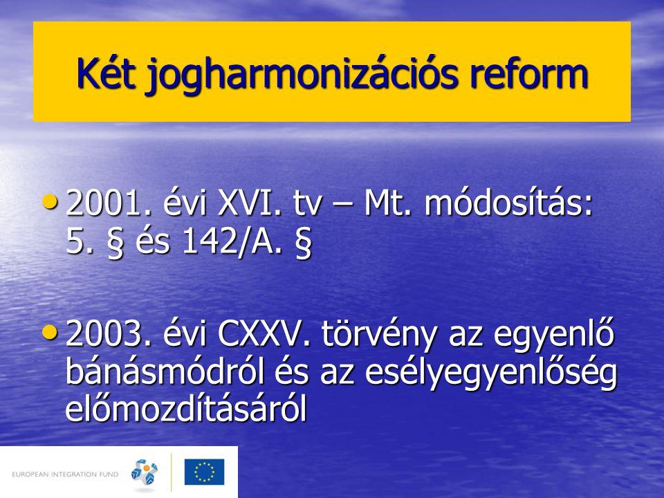 Két jogharmonizációs reform