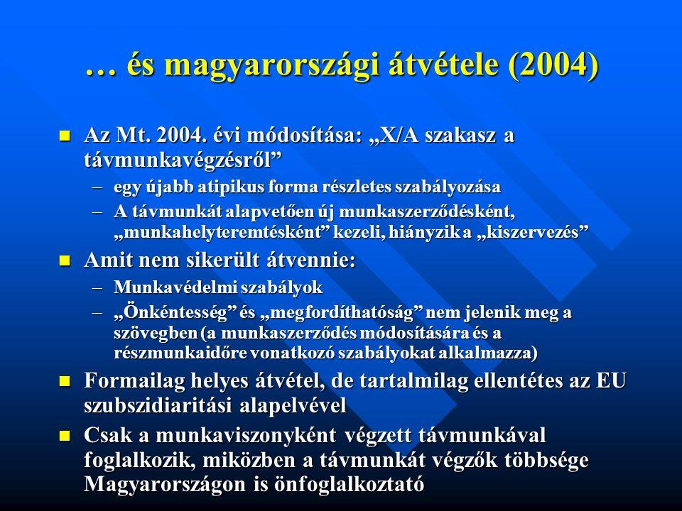 … és magyarországi átvétele (2004)