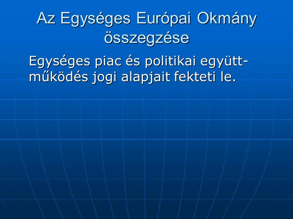 Az Egységes Európai Okmány összegzése