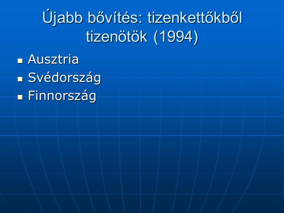 Újabb bővítés: tizenkettőkből tizenötök (1994)