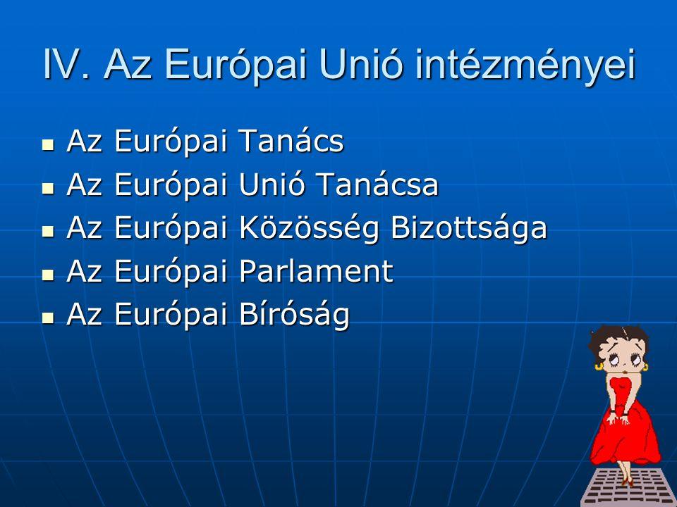 IV. Az Európai Unió intézményei
