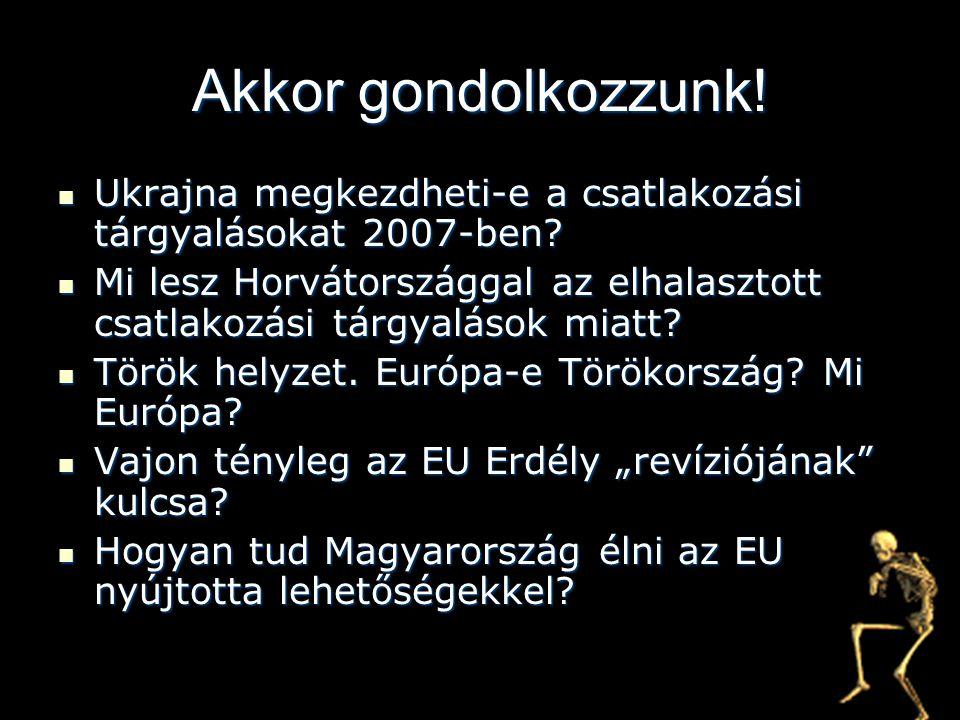 Akkor gondolkozzunk! Ukrajna megkezdheti-e a csatlakozási tárgyalásokat 2007-ben