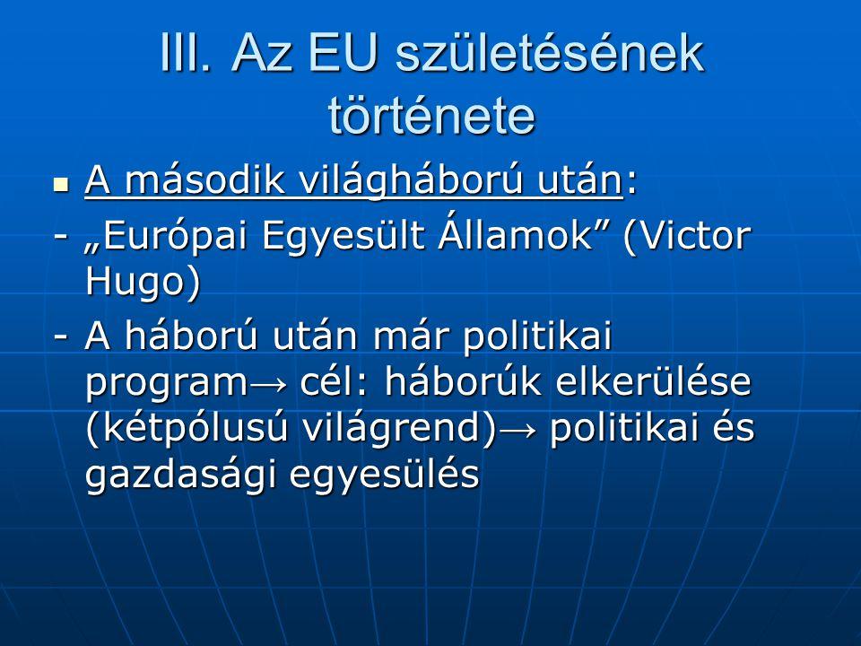 III. Az EU születésének története