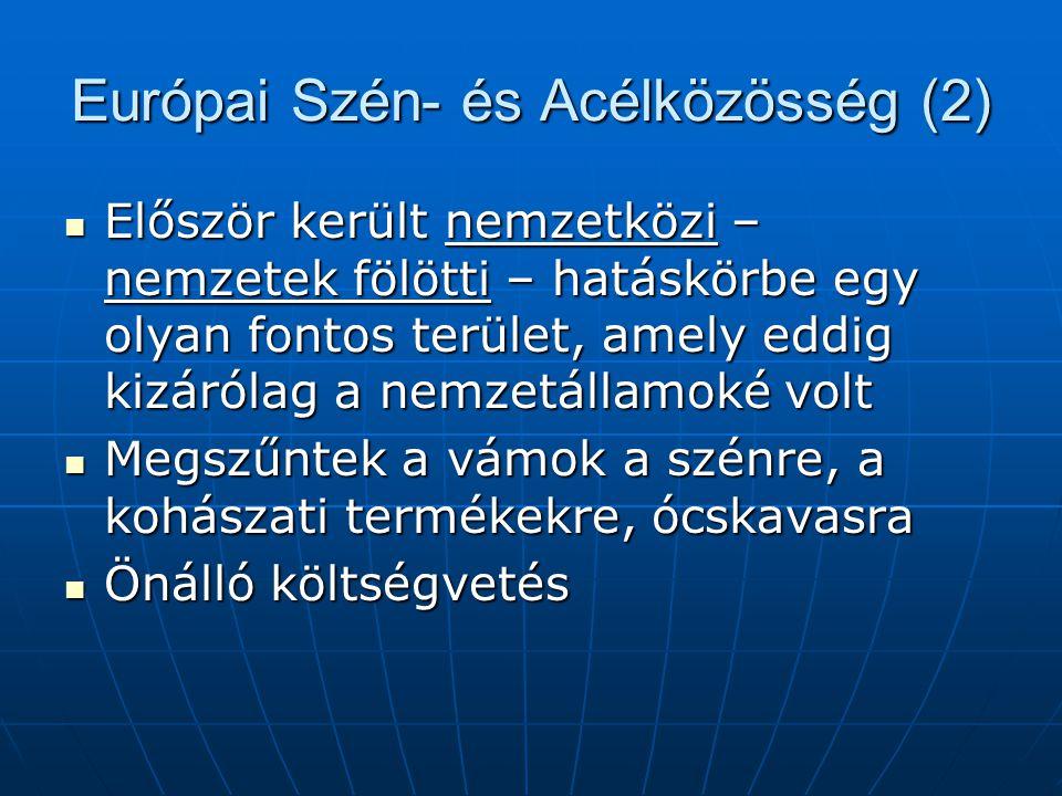 Európai Szén- és Acélközösség (2)