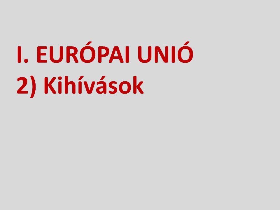 I. EURÓPAI UNIÓ 2) Kihívások