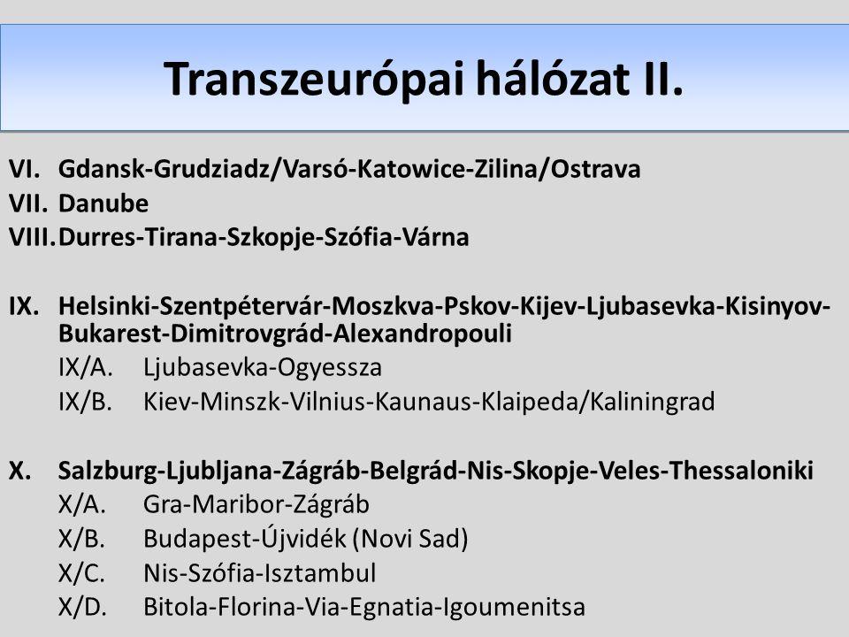 Transzeurópai hálózat II.