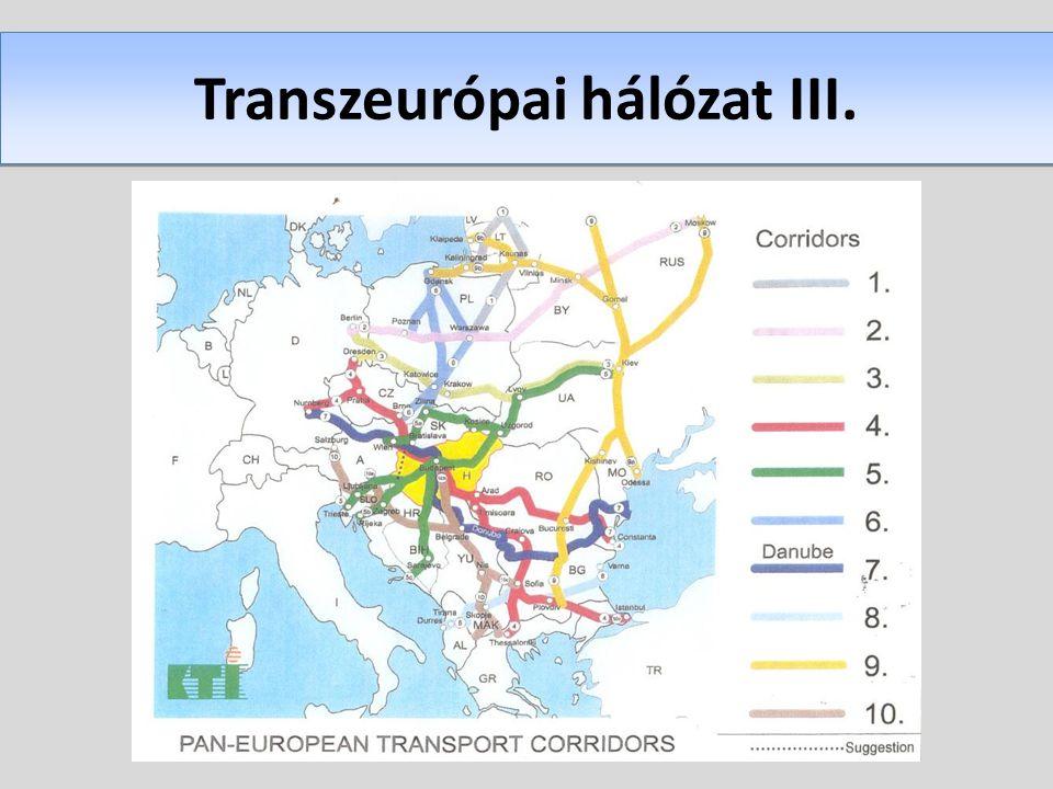 Transzeurópai hálózat III.