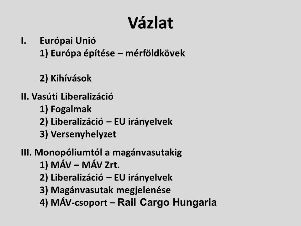 Vázlat Európai Unió 1) Európa építése – mérföldkövek 2) Kihívások