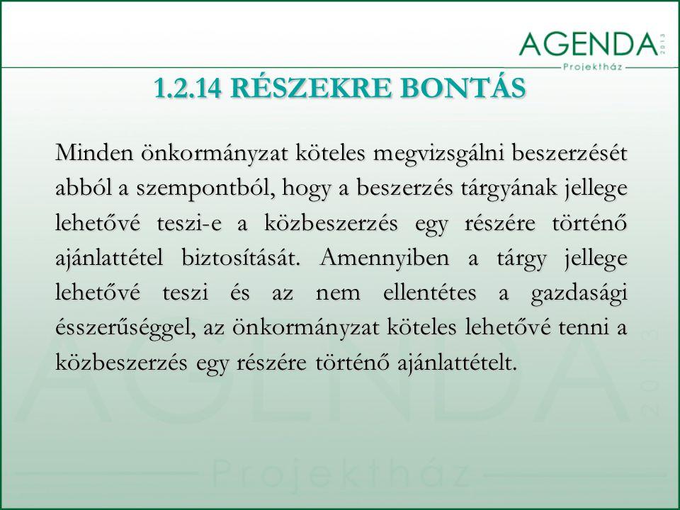 1.2.14 RÉSZEKRE BONTÁS