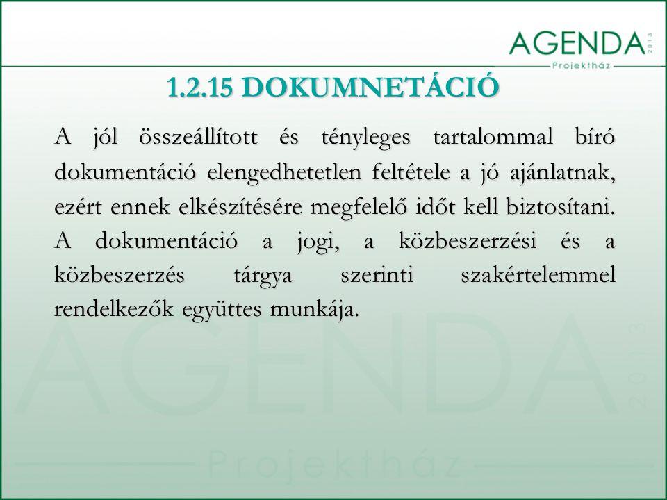 1.2.15 DOKUMNETÁCIÓ
